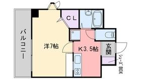 楠原ビル5階Fの間取り画像