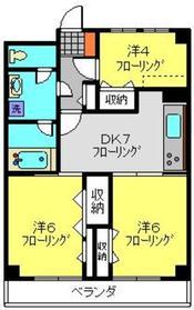 ベルハウス横浜反町12階Fの間取り画像