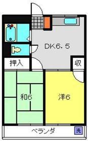 村岡ビル4階Fの間取り画像