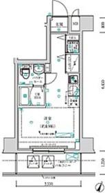 クラリッサ横浜阪東橋4階Fの間取り画像