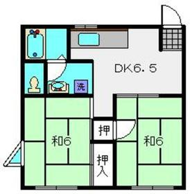 コーポ川嶋2階Fの間取り画像