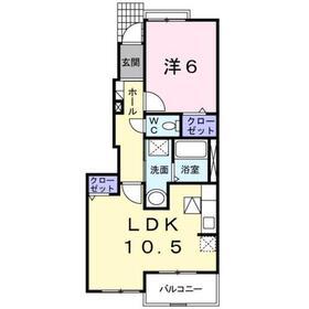 ブリリアント K1階Fの間取り画像