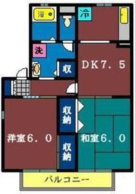 ルミエール藤崎2階Fの間取り画像
