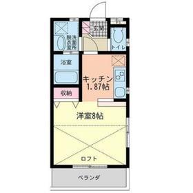 ウッドマンション和光ヴィレッジB棟2階Fの間取り画像