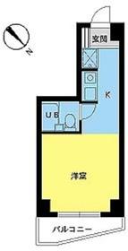 スカイコート品川第64階Fの間取り画像