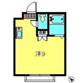 横浜元町ガーデンⅢ3階Fの間取り画像