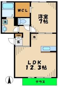 海老名駅 車14分6.2キロ1階Fの間取り画像