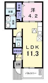 アリエッタⅡ1階Fの間取り画像