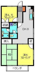 サマックス広瀬ハイツB2階Fの間取り画像