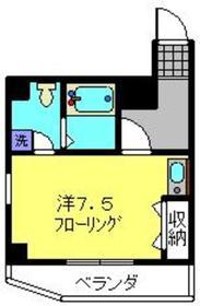 上間ビル2階Fの間取り画像