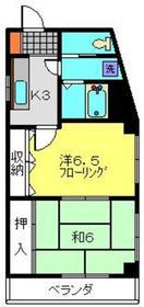 新丸子駅 徒歩14分4階Fの間取り画像