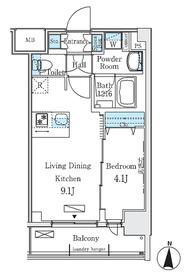 ディームス東陽町Ⅱ6階Fの間取り画像