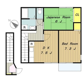 グランパンII2階Fの間取り画像
