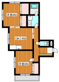 和光市駅 徒歩12分2階Fの間取り画像