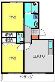 寺ノ上ハイツⅡ3階Fの間取り画像