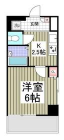 シャトール田口東白楽3階Fの間取り画像