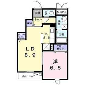 ラニー・ヒル・ヴィレッジ3階Fの間取り画像