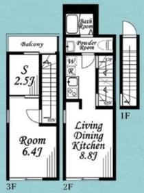 フェザンレーヴ矢野口2-3階Fの間取り画像