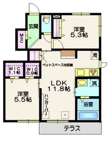 (仮称)草加市新里町メゾン1階Fの間取り画像