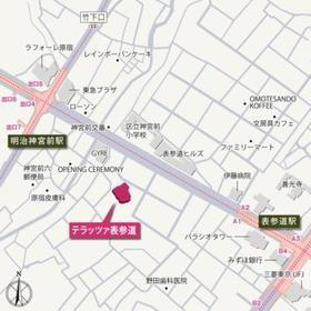 テラッツァ表参道案内図
