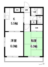 クレッセント椎名町 2号棟2階Fの間取り画像