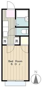 石井ハイツⅡ2階Fの間取り画像