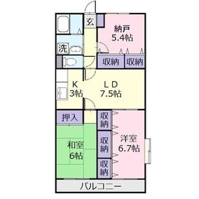 グランドゥール・ドミール3階Fの間取り画像