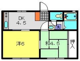 ハイム萩1階Fの間取り画像