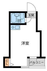 ウィンベル川崎第106階Fの間取り画像