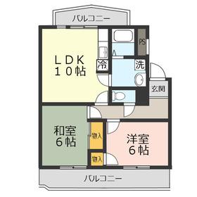ガーデンハイツΣ12階Fの間取り画像