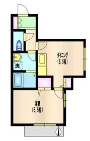 グランドビュー二子玉川1階Fの間取り画像