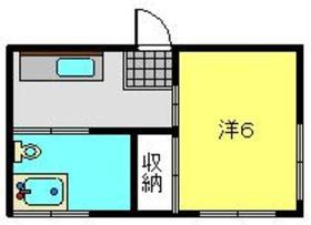 常盤台荘Kハイツ 2号棟1階Fの間取り画像