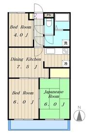 プレジオ小山II3階Fの間取り画像