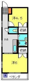メゾン栄和3階Fの間取り画像