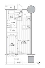 桜ヒルズ九段北8階Fの間取り画像