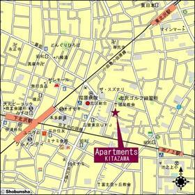 アパートメンツ北沢案内図