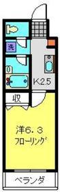 三田レジデンス阪東橋2階Fの間取り画像