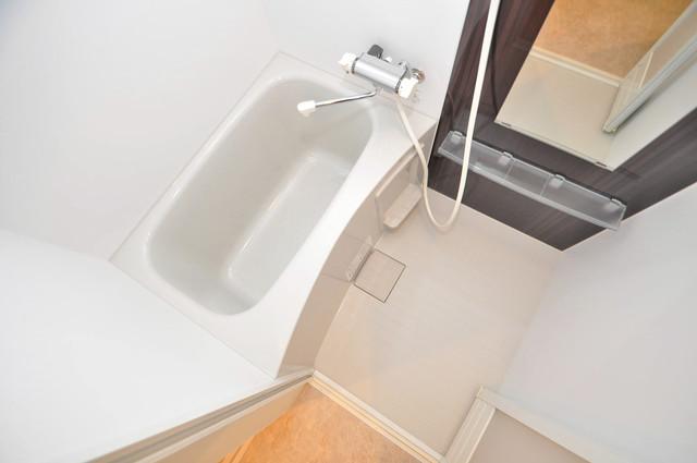 ハーモニーテラス源氏ケ丘 ちょうどいいサイズのお風呂です。お掃除も楽にできますよ。