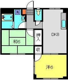 チェリーハイム日吉1階Fの間取り画像