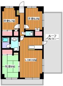 和光市駅 徒歩12分4階Fの間取り画像