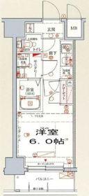 クレヴィスタ横浜新子安8階Fの間取り画像