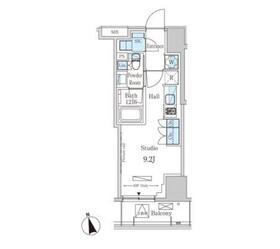 パークアクシス南青山七丁目4階Fの間取り画像