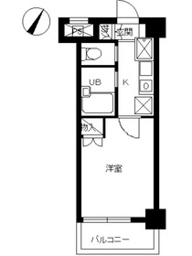 スカイコート日本橋人形町第36階Fの間取り画像