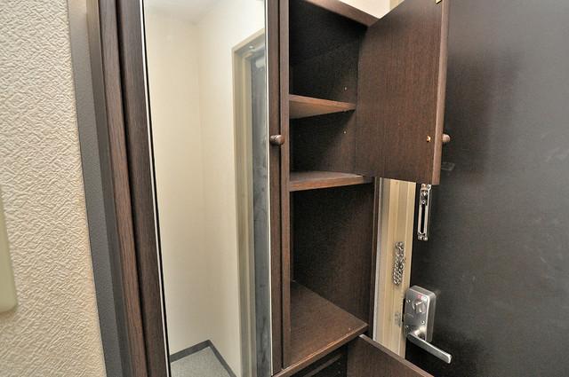 東大阪市上小阪4丁目の賃貸マンション 明るい玄関には大きめのシューズボックスがありますよ。