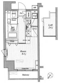 ブランシック白金台10階Fの間取り画像