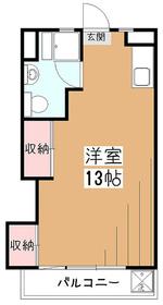第一セイケンマンション2階Fの間取り画像