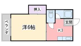 スリム室見1階Fの間取り画像