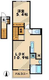 アレグリア2階Fの間取り画像