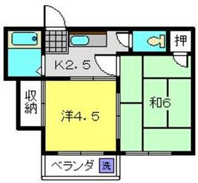 グランドメゾン石井2階Fの間取り画像