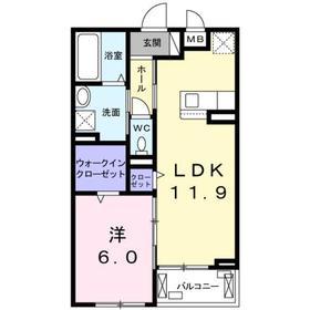 香川駅 徒歩11分3階Fの間取り画像